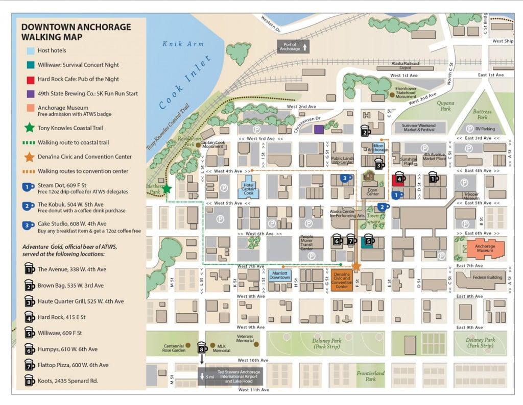 Anchorage Walking Map | Adventure Travel Trade Association